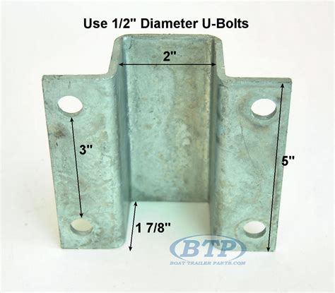 Bunk Carpet For Boat Trailers by 2 Inch Galvanized Boat Trailer Hat Bracket For V Guide Of