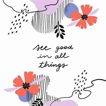 Inspirational Background Quote Vector Shapes Flowers Flower