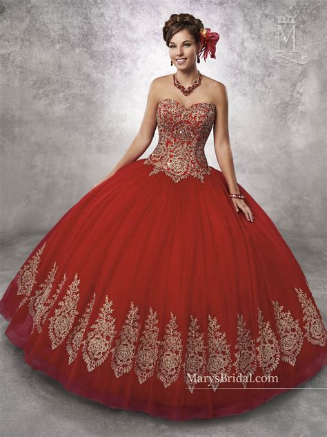 Marys Quinceanera Dresses   Style - 4Q497 in Bright Red ...