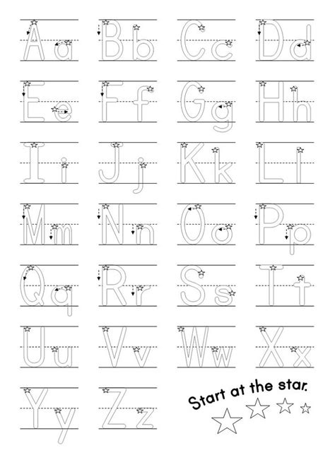 tracing alphabet practice worksheets  worksheets