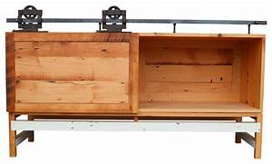 elliot stith fine woodworking barn door credenza view With buffet with barn doors