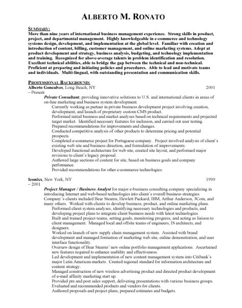 International Sales Resume Objective by International Business International Business Sle Resume