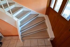 Treppenrenovierung Offene Treppe : renovierung einer treppe mit podest und wangen in laminat ~ Articles-book.com Haus und Dekorationen