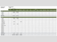 Rental Property Income and Expenses Excel Templates
