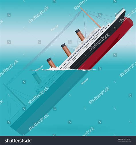 Titanic Boat Vector by Sinking Titanic Legendary Colossal Boat Monumental Stock
