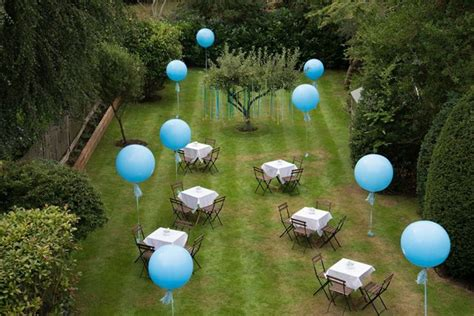 Outdoor Decorations Ideas Uk by Helium Balloon Table Decorations Garden
