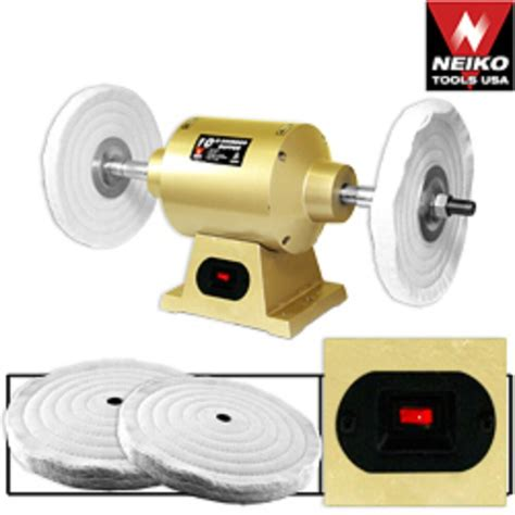 Polishing Wheel For Bench Grinder by 6 Quot Grinder Buffer With 2 Buffing Wheels Ebay