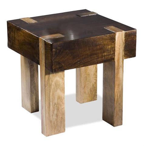 side table design berkeley solid chunky wood contemporary end side table