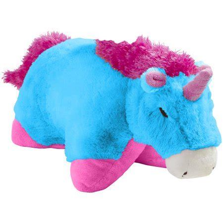 unicorn pillow pet ontel products corp pillow pets neon blue unicorn