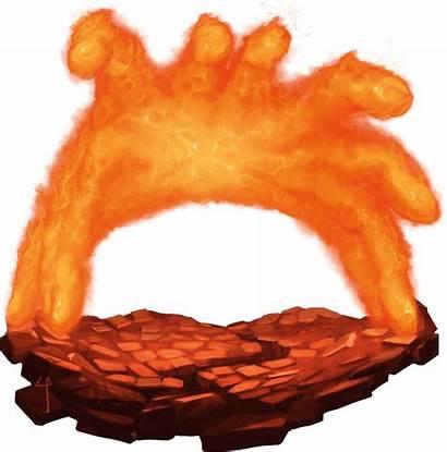 Burning Hands Living Spell Monster Daily Bestiary