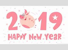2019 Happy New Pig Year 4K HD Desktop Wallpaper for 4K