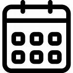 Icon Calendar Symbol Event Weekly Outline Interface