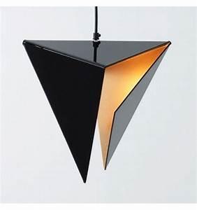 Suspension Noire Design : suspension dor e et noire delta ~ Teatrodelosmanantiales.com Idées de Décoration