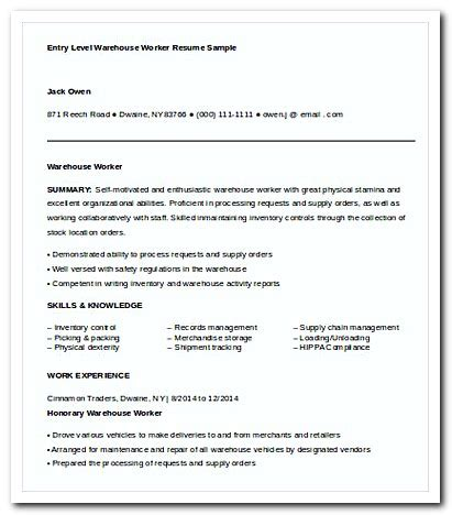 writing warehouse worker cover letter for your