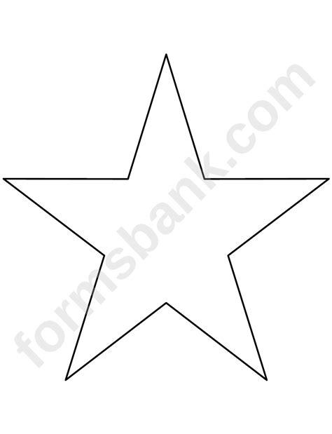 star template printable