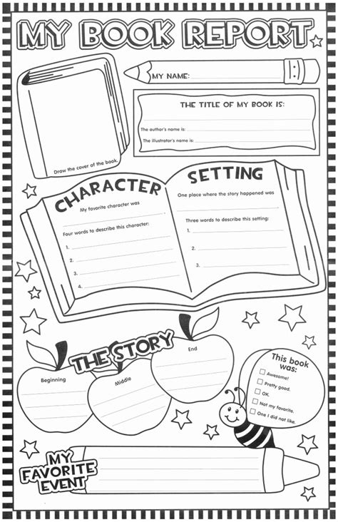 Fancy Collection Of Second Grade Book Report Form Twilightblognet
