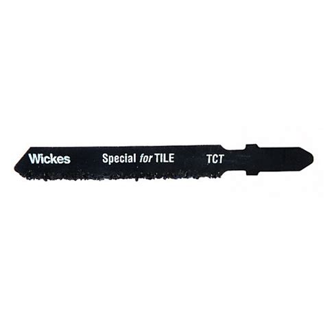 Wickes T Shank Tungsten Carbide Jigsaw Blade For Tile Pack