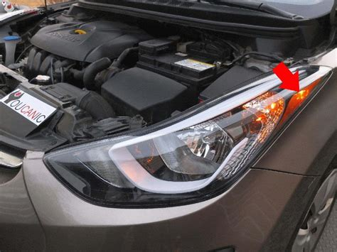 front side marker bulb replacement hyundai elantra