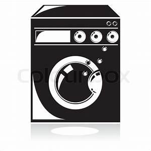 Weichspüler Symbol Waschmaschine : schwarz waschmaschine symbol stock vektor colourbox ~ Markanthonyermac.com Haus und Dekorationen