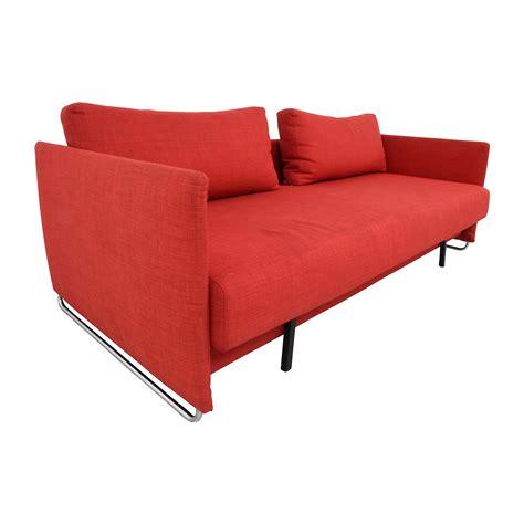 red sectional sleeper sofa 74 off cb2 cb2 tandom red sleeper sofa sofas