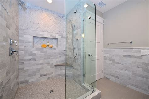 hexagon mosaic tile shower floor mixing and matching tile sizes finishes and colors how to