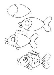 Cartoon Angel Fish Drawings