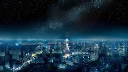 Tokyo Night Sky Japan Tower Way Milky