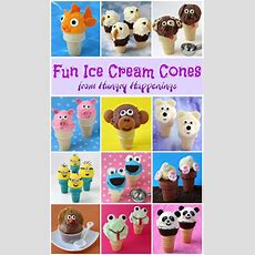Vanilla Custard Ice Cream Cone Panda Bears  Hungry Happenings