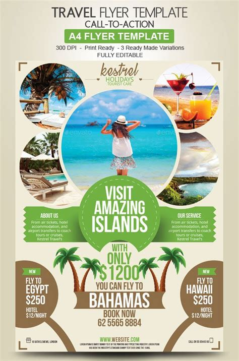 Travel Agency Flyer Design Advertise Your Holiday Deals