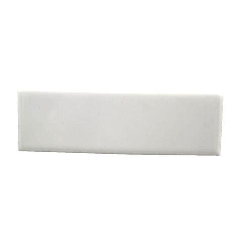 daltile semi gloss white 2 in x 6 in ceramic bullnose