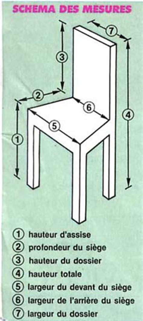 mesure d une chaise tutoriel couture housse de chaise