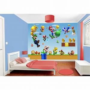 Papier Peint Sticker : papier peint enfant g ant mario stickers muraux enfant ~ Premium-room.com Idées de Décoration