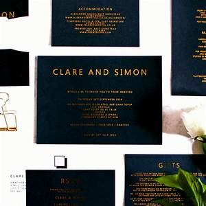 black and gold luxury modern wedding invitations for With black and gold wedding invitations uk