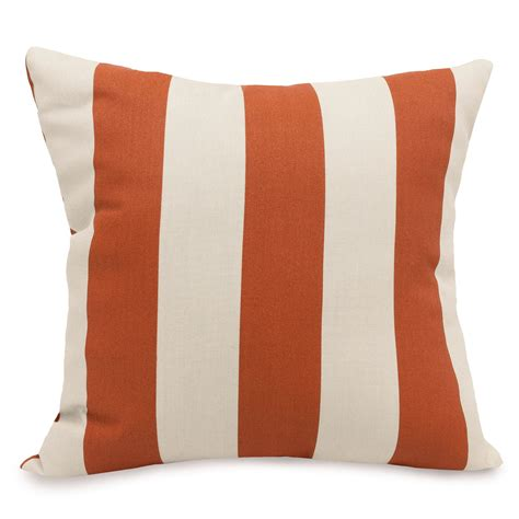 shop burnt orange vertical stripe large outdoor pillow