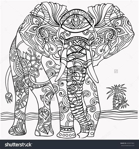 elephant coloring pages  adults images