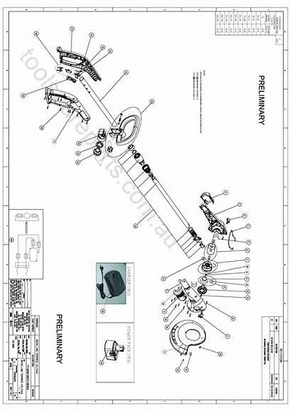 Ryobi Parts Spare Diagram Makita