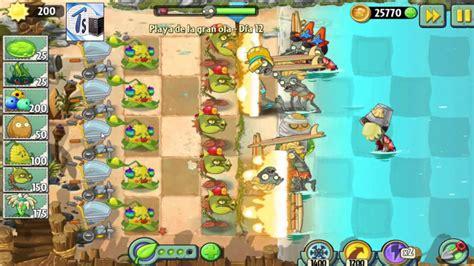 plants vs zombies 2 playa de la gran ola dia 12