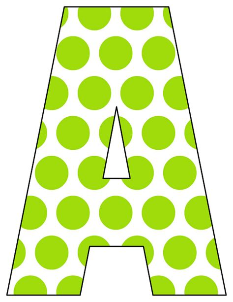polka dot alphabet letters images printable polka dot alphabet letters free printable 21987