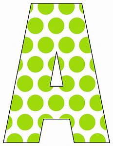 Printable polka dot alphabet letters free printable for Dots alphabet letter