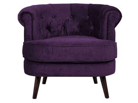 fauteuil felix coloris violet vente de fauteuil conforama