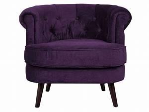 Fauteuil En Tissu FELIX Coloris Violet Vente De Tous Les