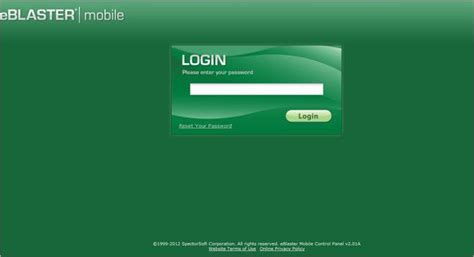 mobile login page android eblaster mobile for android slide 2 slideshow from