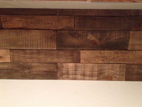 diy kitchen backsplash  pallet wood minwax special