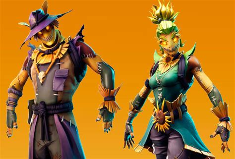 fortnite  skins leaked  halloween scarecrow skins