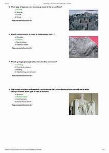 Rock Cycle Assessment Test Results Jhomar