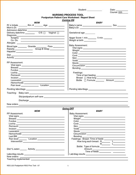 nursing report template 8 nursing report sheet template expense report