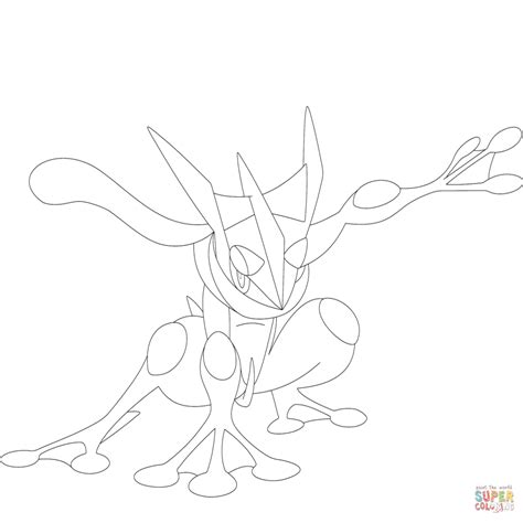 Buy Pokemon Greninja Colouring Pages Print Posters On Wallpart