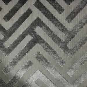 Ministry - Geometric Pattern Cut Velvet Upholstery Fabric