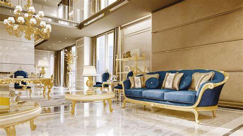 luxury wooden living room furniture classic italian