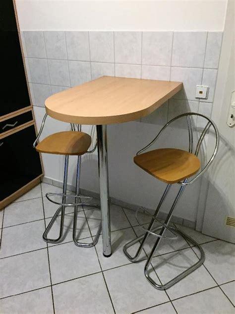 Stühle Für Küchentheke by K 252 Chentheke Bartresen Wand Bistro Stehtisch Mit 2